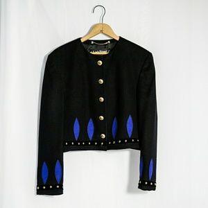 Vintage Louis Feraud Wool & Angora Jacket